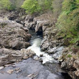 """The Soldier's Leap"" in Killiecrankie, kurz vor Blair Atholl"
