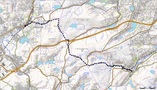 Kartendaten: © OpenStreetMap-Mitwirkende, SRTM | Kartendarstellung: © OpenTopoMap (CC-BY-SA), Screenshot from GPXSee-App