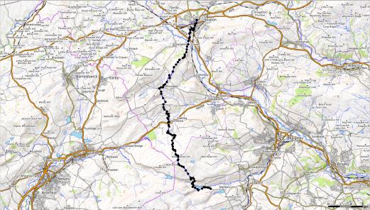 Kartendaten: © OpenStreetMap-Mitwirkende, SRTM   Kartendarstellung: © OpenTopoMap (CC-BY-SA), Screenshot from GPXSee-App